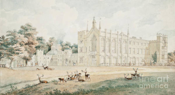 Wall Art - Painting - View From The South West, Cassiobury, Hertfordshire by William Alexander