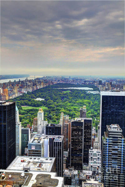 Photograph - View From The Top Of The Rock Rockefeller Center Nyc II by Wayne Moran