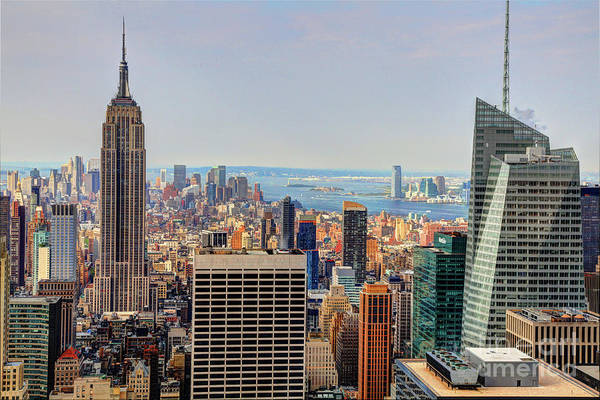 Photograph - View From The Top Of The Rock Rockefeller Center Nyc  by Wayne Moran