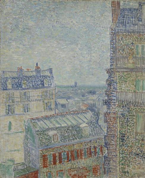 Painting - View From Theo S Apartment Paris, March - April 1887 Vincent Van Gogh 1853  1890 by Artistic Panda