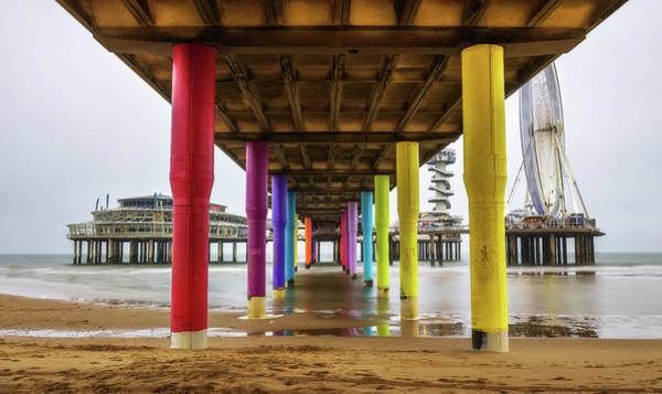 Scheveningen Pier Photograph - View From Underneath The Pier In Scheveningen Near Hague, Netherlands by Miroslav Liska