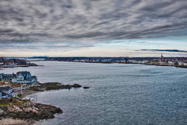 Chandler Photograph - View Of Abbot Hall From Marblehead Lighthouse by Jeff Folger
