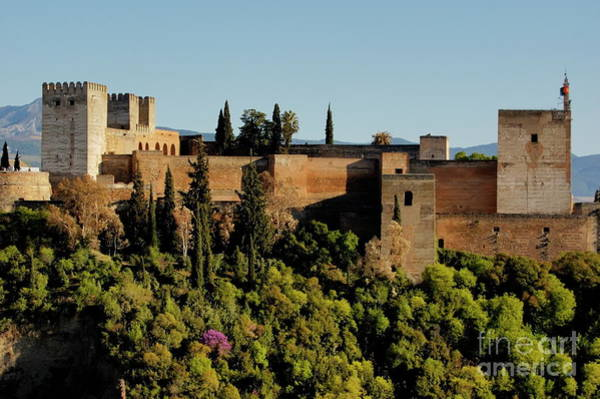 Wall Art - Photograph - View Of Alcazaba Citadel And The Alhambra Palace From The Plaza Of St Nicholas by Sami Sarkis