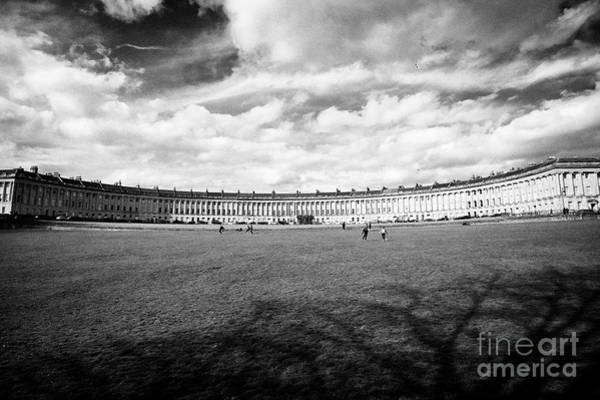 Wall Art - Photograph - view of all of Royal Crescent residential road georgian houses Bath England UK by Joe Fox