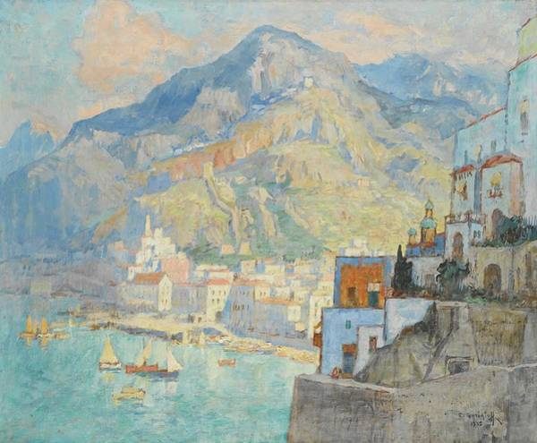 Wall Art - Painting - View Of Amalfi by MotionAge Designs