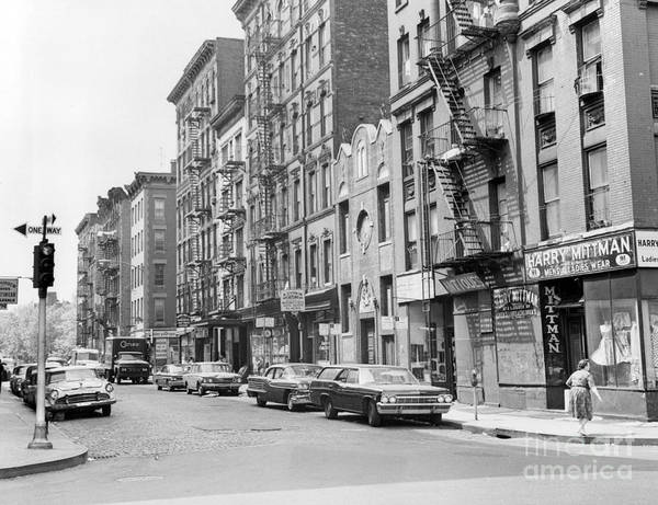 Broome Photograph - View Of Broome Street In Manhattan New York. 1965. by Barney Stein