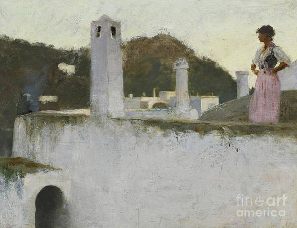 Bay Of Green Bay Wall Art - Painting - View Of Capri, 1878 by John Singer Sargent