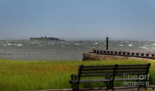 Photograph - View Of Castle Pinckney During Tropical Storm Hermine by Dale Powell