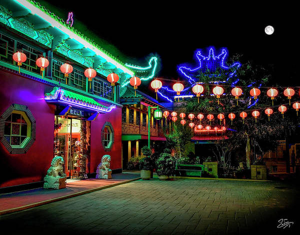 Photograph - View Of Chinatown At Night by Endre Balogh