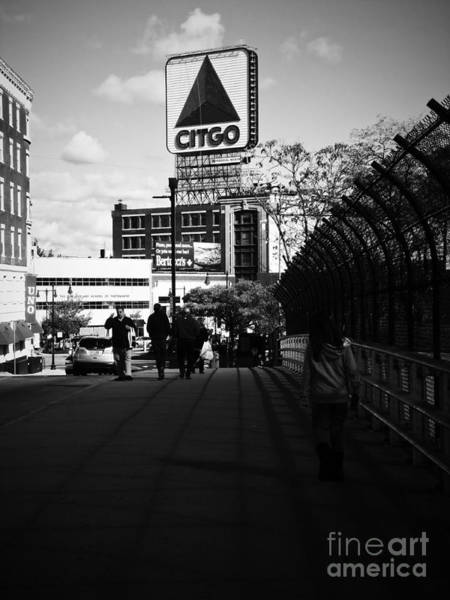 Photograph - View Of Citgo Sign From David Ortiz Bridge, Boston, Massachusetts by Lita Kelley