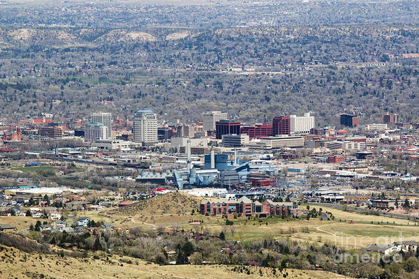 Photograph - View Of Colorado Springs From Mount Cutler by Steve Krull