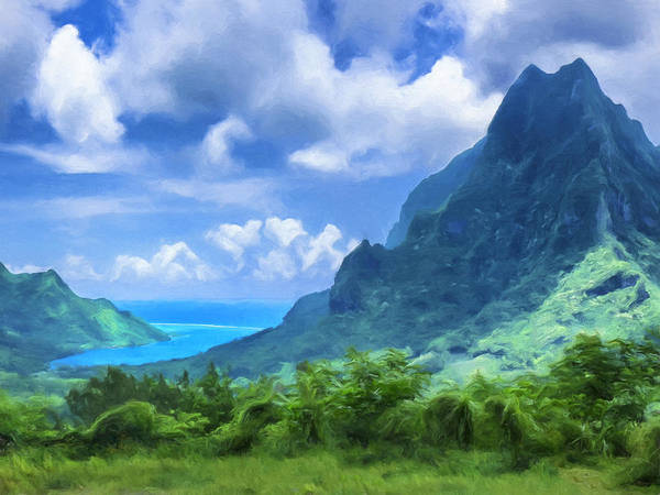 Fatu Hiva Wall Art - Painting - View Of Cook's Bay Mo'orea by Dominic Piperata