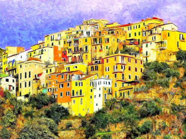 Painting - View Of Corniglia - Cinque Terre by Dominic Piperata