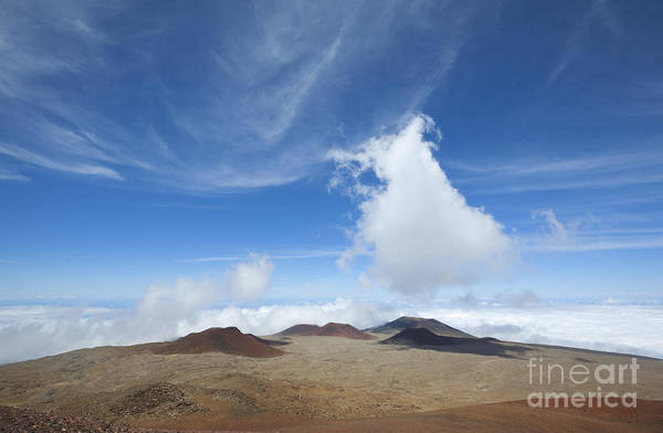 Photograph - View Of Craters From Mauna Kea Summit by Charmian Vistaunet