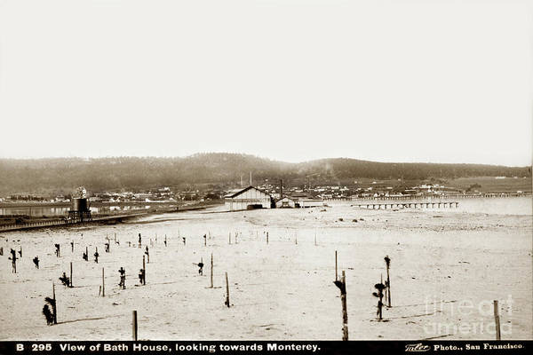 Photograph - View Of Del Monte Bath House Looking Southwest Towards Monterey  by California Views Archives Mr Pat Hathaway Archives