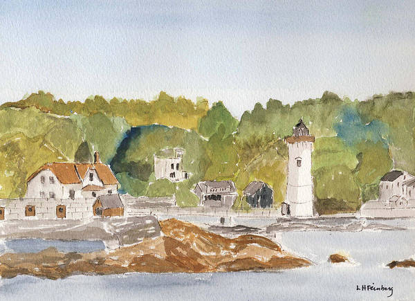 Painting - View Of Fort Constitution by Linda Feinberg