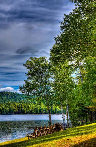 Chain Of Lakes Photograph - View Of Fourth Lake From The Woods Inn by David Patterson