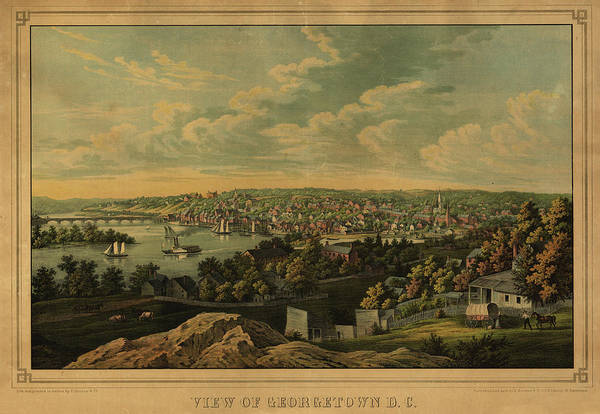 Wall Art - Painting - View Of Georgetown by Sachse