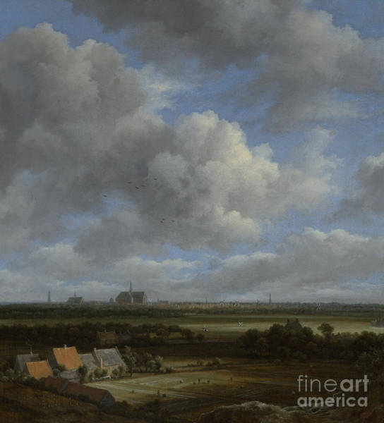 Shades Of Green Painting - View Of Haarlem From The Northwest by Jacob Isaackszoon van Ruisdael