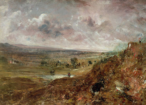 Moorland Wall Art - Painting - View Of Hampstead Heath by John Constable