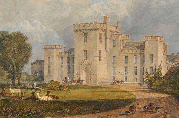 J. M. W. Turner Painting - View Of Hampton Court, Hertefordshire, From The Northwest by JMW Turner