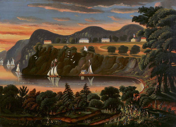 Painting - View Of Hudson River At West Point by Thomas Chambers