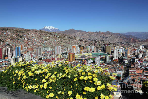 Photograph - View Of La Paz From Killi Killi Viewpoint Bolivia by James Brunker