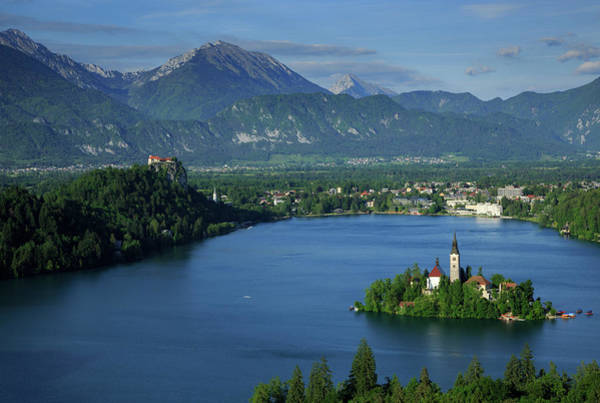 Wall Art - Photograph - View Of Lake Bled From Ojstrica by Ian Middleton