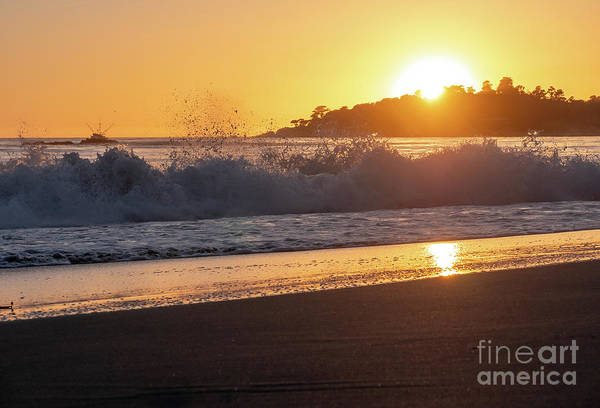 Photograph - View Of Large Fishing Boat From The Beach At Sunset by PorqueNo Studios