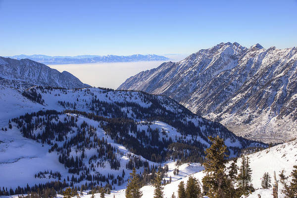 Photograph - View Of Little Cottonwood Canyon From Hidden Peak by Spencer Baugh