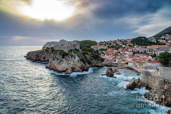 Photograph - View Of Lovrjenac Fort With A Dramatic Sky In Dubrovnik, Croatia by Global Light Photography - Nicole Leffer