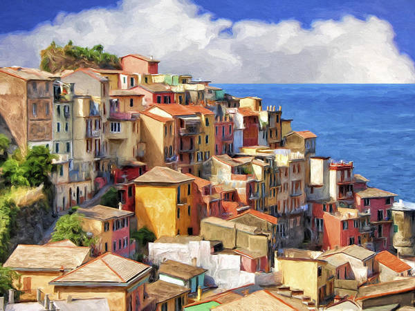 Painting - View Of Manarola by Dominic Piperata
