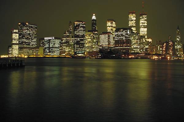 City Landscape Wall Art - Photograph - View Of Manhattan From Bay by Gillham Studios