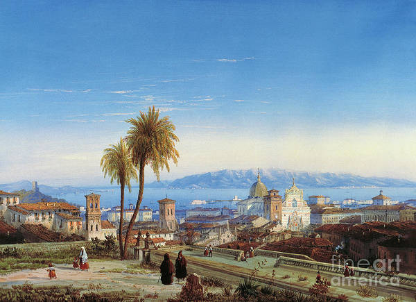 Sicily Painting - View Of Messina, 1845 by Carlo Bossoli