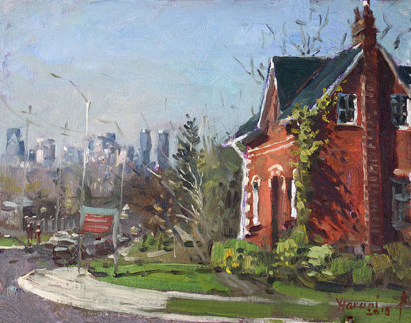 Wall Art - Painting - View Of Mississauga City by Ylli Haruni