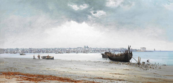 Montevideo Wall Art - Painting - View Of Montevideo by Carlos Corsetti