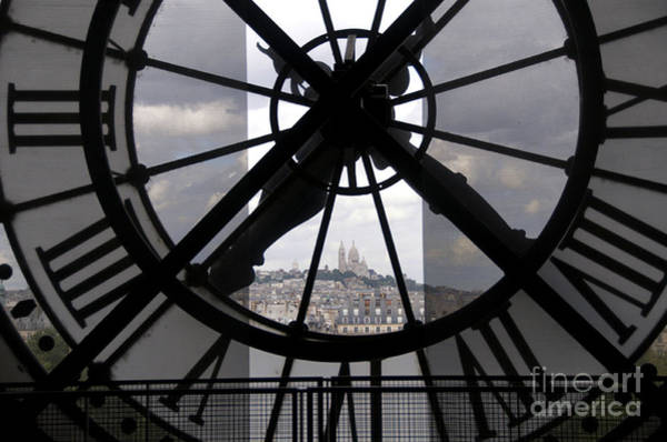 Wall Art - Photograph - View Of Montmartre Through The Clock At Museum Orsay.paris by Bernard Jaubert