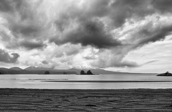 Wall Art - Photograph - View Of Mt Edgecumbe From Kruzof Island In Black And White by SharaLee Art