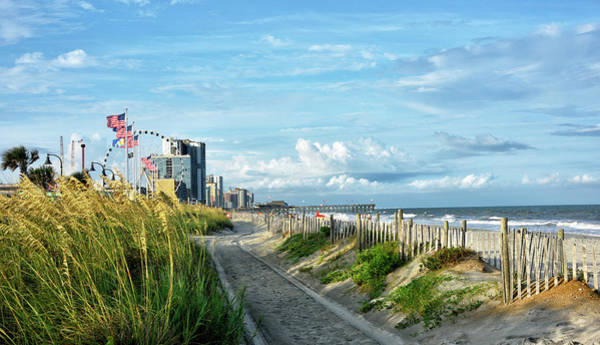 Wall Art - Photograph - View Of Myrtle Beach - South Carolina by Brendan Reals