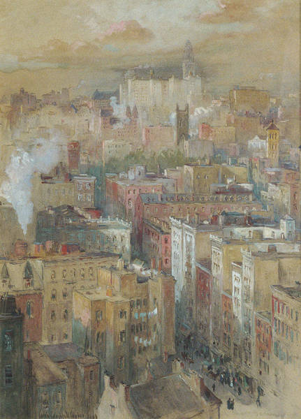 Narrow Street Painting - View Of New York City by Colin Campbell Cooper