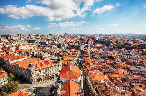 Photograph - view of old historic part of Porto by Ariadna De Raadt