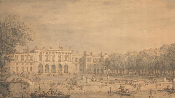 Drawing - View Of Old Somerset House From The Thames by Canaletto