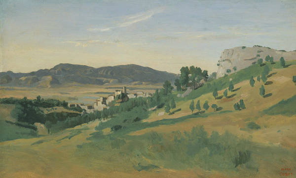 Painting - View Of Olevano by Jean-Baptiste-Camille Corot