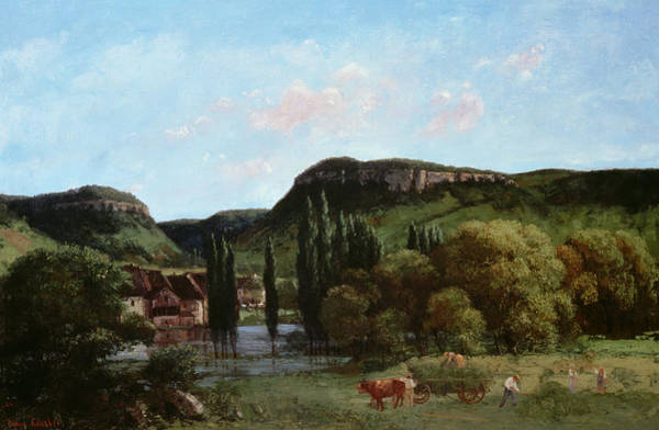 Comte Wall Art - Painting - View Of Ornans, 1864 by Gustave Courbet