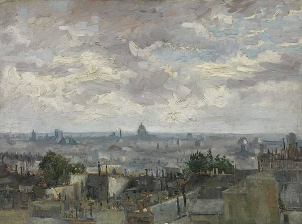 Painting - View Of Paris Paris, June - July 1886 Vincent Van Gogh 1853  1890 by Artistic Panda