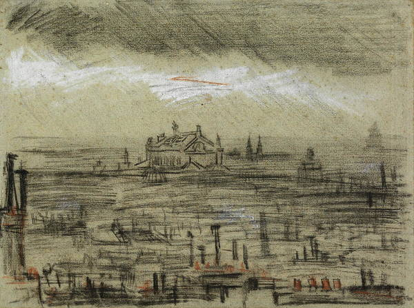 Southern France Painting - View Of Paris With The Opera, 1886 by Vincent Van Gogh