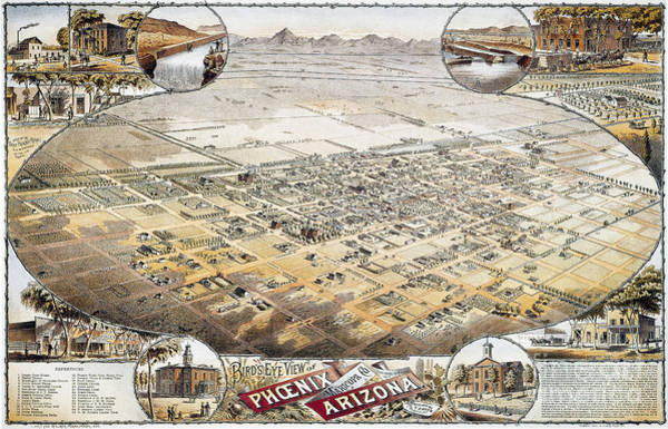 Photograph - View Of Phoenix, Arizona by Granger