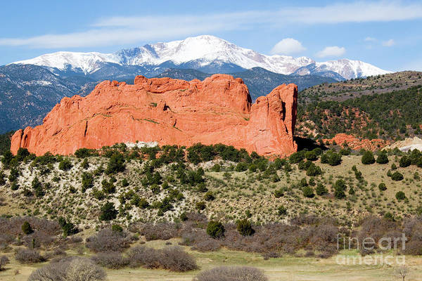 Photograph - View Of Pikes Peak And Garden Of The Gods Park In Colorado Springs In Th by Steve Krull