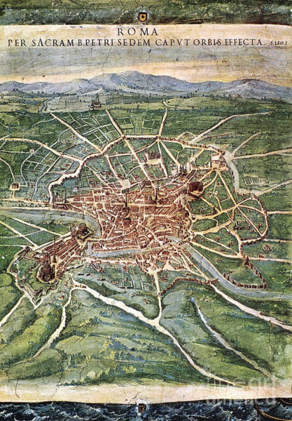 Photograph - View Of Rome, 1631 by Granger