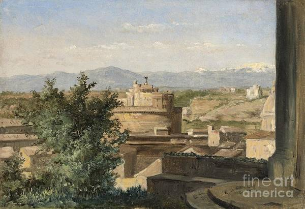Wall Art - Painting - View Of Rome From The Janiculum Hill by Celestial Images